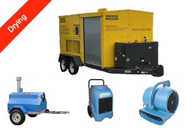 Mouldco provide drying of moist areas with our powerful onsite drying trailers